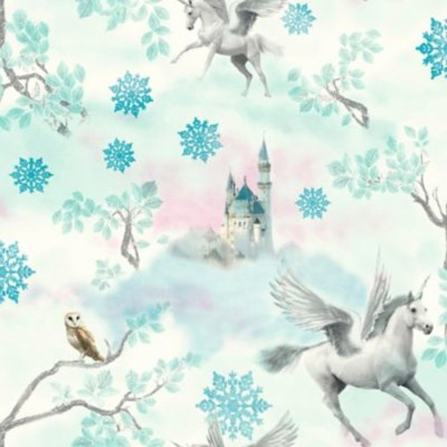 Imagine Fun Fairytale Wallpaper in Ice Blue