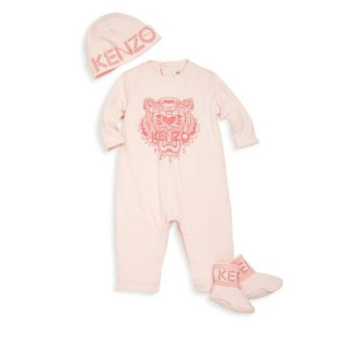 Baby's & Toddler's Three-Piece Tiger Icon Coverall, Hat & Booties Set