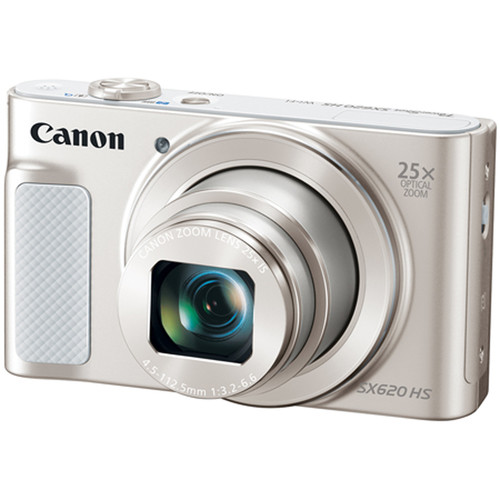 Canon PowerShot SX620 HS 20.2MP Digital Camera, 25x Optical Zoom & Wi-Fi - Silver