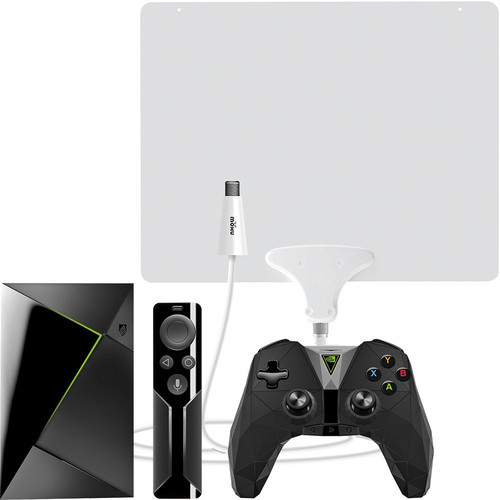 NVIDIA - SHIELD TV 16GB Streaming Media Player & Mohu Leaf 50 Amplified Indoor HDTV Antenna Package