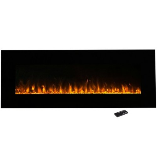 Electric Fireplace Wall Mounted, LED Fire and Ice Flame, With Remote 54 inch by Northwest [Black, 54 - Inch]
