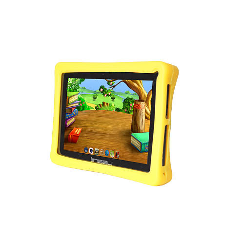 LINSAY 7 inch Quad Core Funny Tab 1280 x 800 IPS Screen Dual Camera Android Bundle with Kids Yellow Defender Case