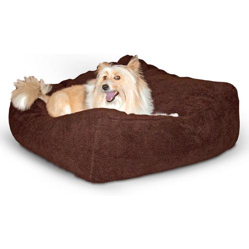 K&H Pet Products Cuddle Cube Mocha Dog & Cat Bed [Large]