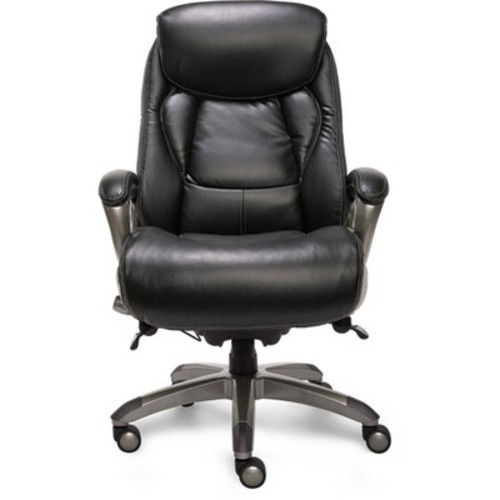 Smart Layers Premium Ultra Executive Chair Tranquil Black Bonded Leather - Serta