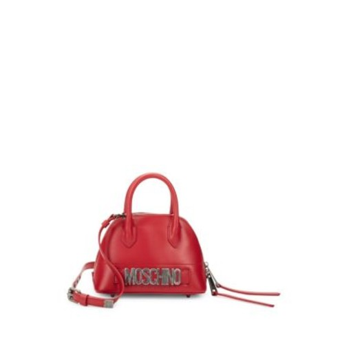 Moschino - Dome Leather Satchel
