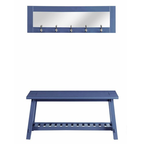 Stanton Blue Bench and Mirror