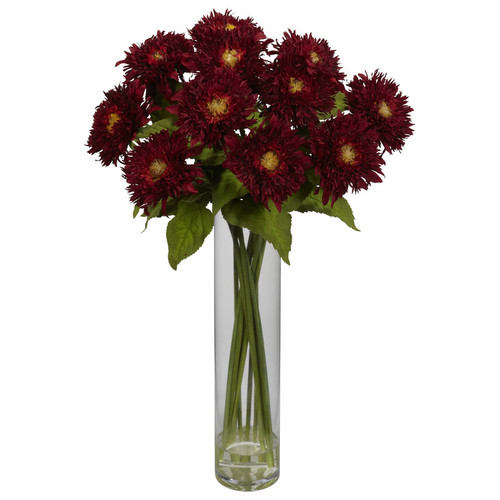 Nearly Natural 27-in Red Silk Arrangement