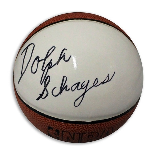 Dolph Schayes Autographed Mini Basketball