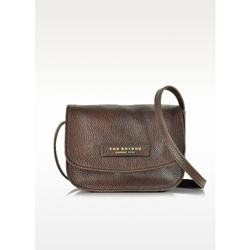 Plume Soft Donna Dark Brown Leather Crossbody Bag