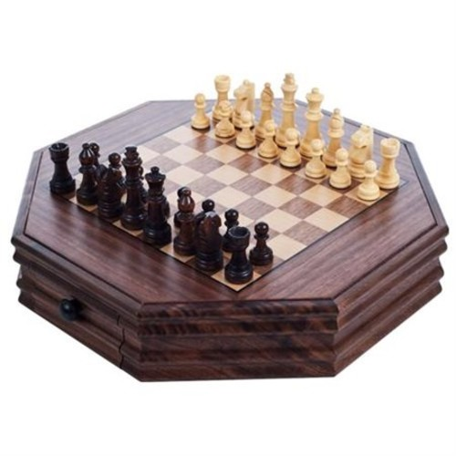Trademark Games&8482 Octagonal Chess And Checkers Set