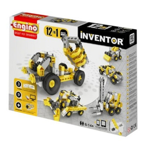 Engino Inventor Build 12 Models Industrial Vehicles Construction Kit