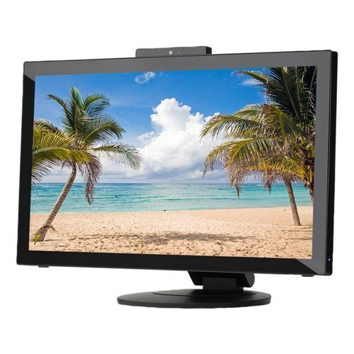 NEC Display MultiSync E232WMT-BK Black 23 Widescreen AH-IPS Panel, LED Backlight LCD Monitor 5ms 250cd/m2, 10-point multi touch, USB 3.0 Inputs, Built-in Speakers & Full HD Camera, Height Adjust, 3 Y