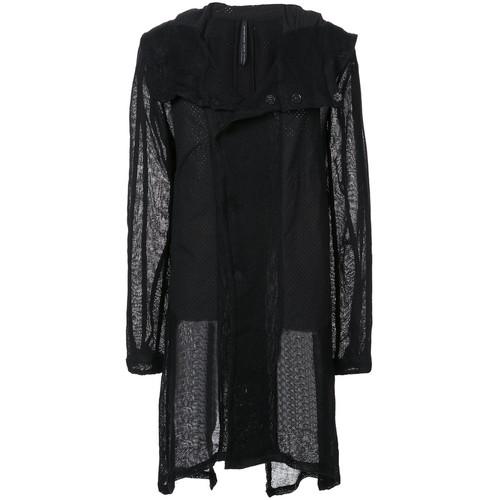 sheer panel coat