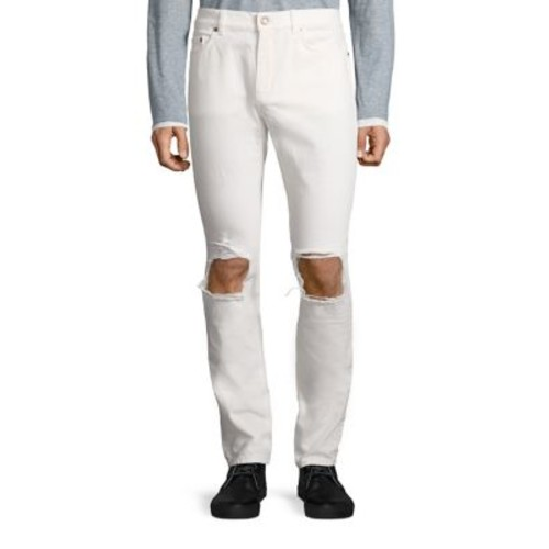 SAINT LAURENT Slim Distressed Jeans