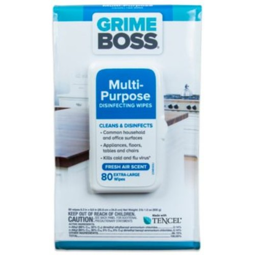 Grime Boss 80-Count Multi-Purpose Disinfecting Wipes