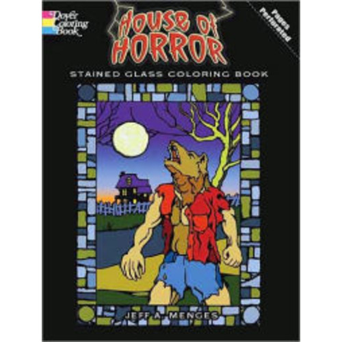House of Horror Stained Glass Coloring Book