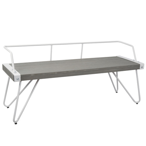 Lumisource Stefani Industrial Dining-Entryway Bench