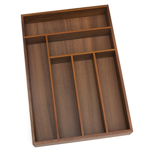 Lipper 6-Slot Acacia Wood Flatware Organizer