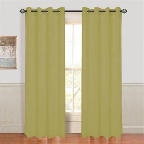 Lavish Home Mia Jacquard Grommet Curtain Panel