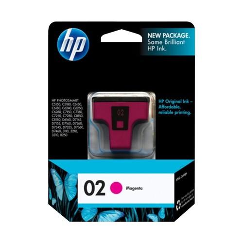 HP - 02 Original Ink Cartridge - Magenta