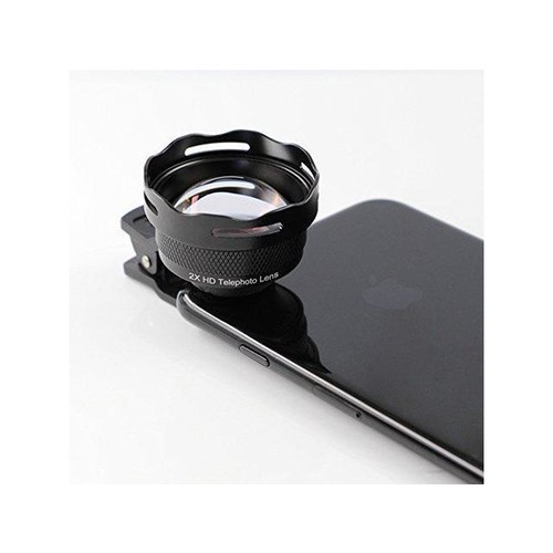 The 3rd Gen. phone telephoto lens, Original 2X Teleconverter Lens HD cell phone camera lens, No Distortion , 60mm fixed length zoom lens for iPhone Samsung Pixel Android Smart phones Most Cell Phones