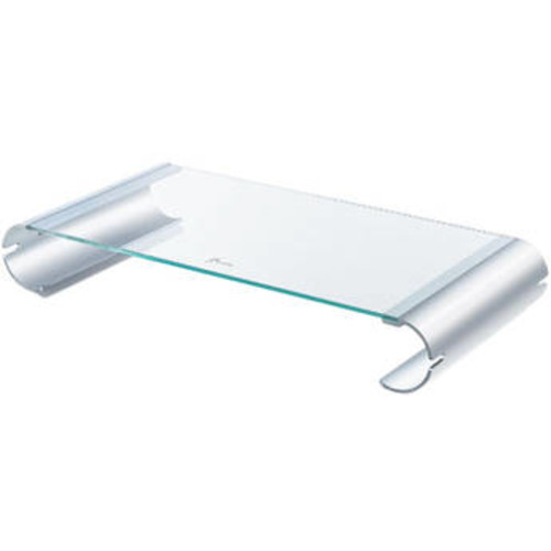 Aluminum & Tempered Glass Monitor Stand