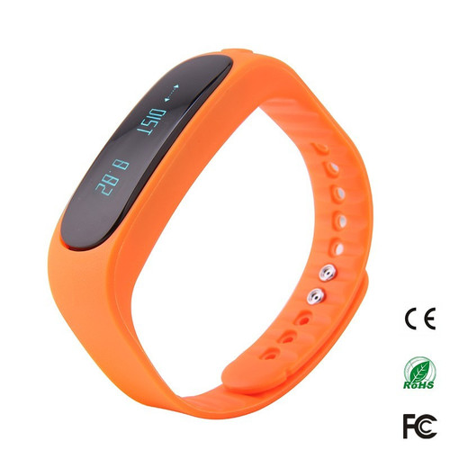 Bluetooth 4.0 Waterproof Smart Bracelet E02 tracker Sport / SMS Remind Smartband Watch For IOS Android Phones iPhone