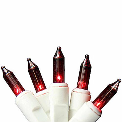 Set of 100 Red Mini Icicle Christmas Lights 2.5