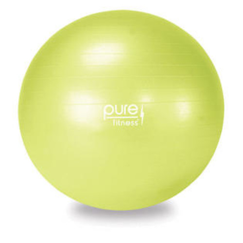 Pure Fitness 55 cm Anti-Burst Exercise Ball with Hand Pump and 16-Exercise Fitness Guide