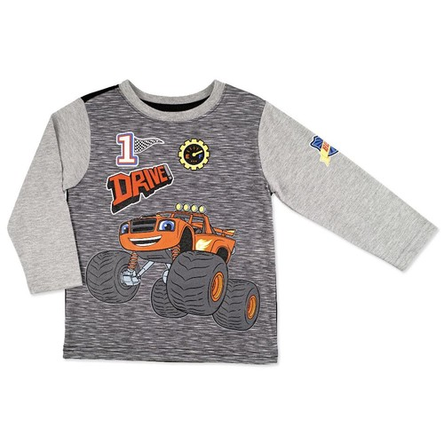 Blaze and the Monster Machines Grey Raglan Printed Top - Toddler