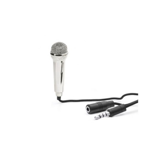 Black Mini Karaoke Microphone - Kikkerland