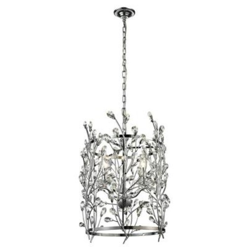 Dale Tiffany Aster 3-Light Polished Chrome Indoor Chandelier