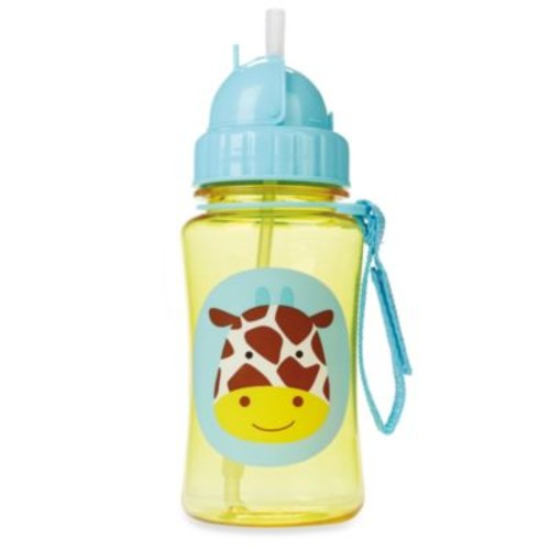 SKIP*HOP Zoo 12-Ounce Giraffe Straw Bottle