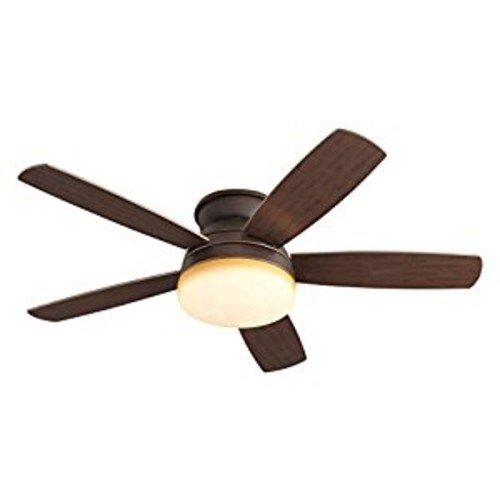 Monte Carlo 5TV52RBD, Traverse, 52-in Flush Mount Ceiling Fan, Roman Bronze