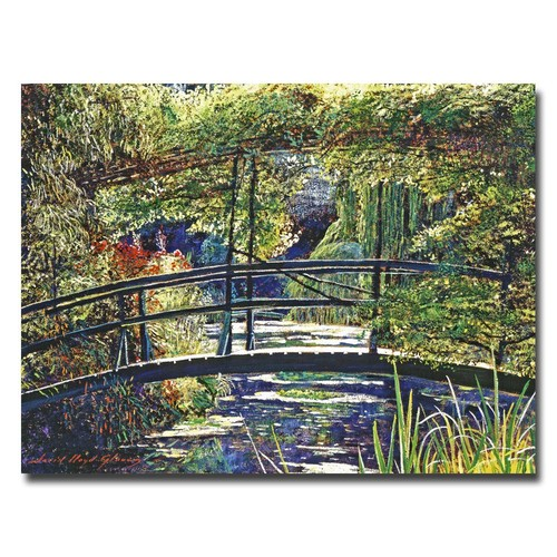 Trademark Global David Lloyd Glover 'Giverny Footbridge' Canvas Art [Overall Dimensions : 18x24]
