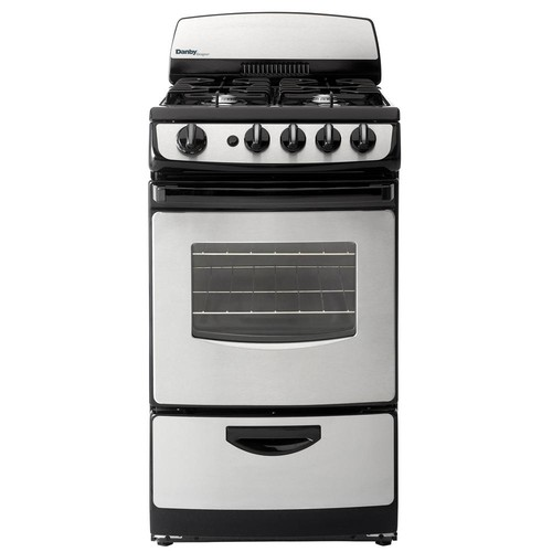 Danby 20 in. 2.4 cu. ft. Gas Range with Manual Clean Oven in Stainless Steel and Black