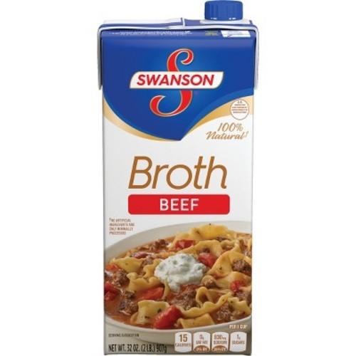 Swanson 100% Natural Beef Broth 32 oz