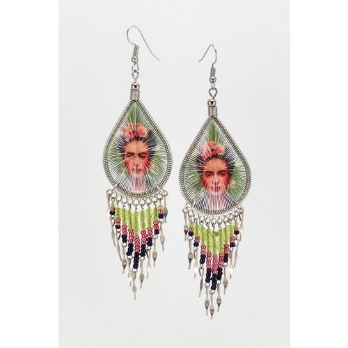 Frida-Kahlo Chandelier Earrings