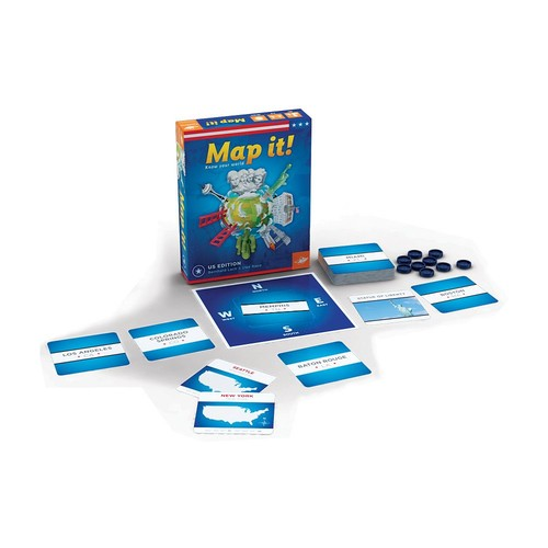 Map It! USA Edition Game by FoxMind Games