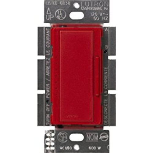 Lutron Maestro C.L Dimmer Switch for Dimmable LED, Halogen & Incandescent Bulbs, Single-Pole or Multi-Location, MACL-153M-HT, Hot [Hot]