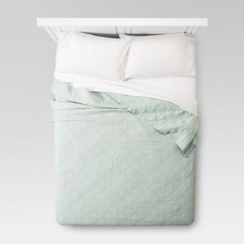 Mint Green Linen Quilt (King) - Threshold