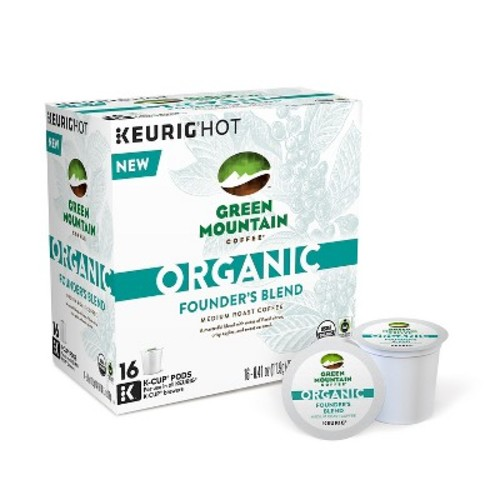 Keurig - Green Mountain Coffee Organic Founder's Blend K-Cup Pods (16-Pack) - Multi