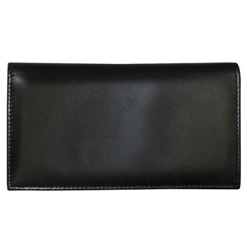 Dopp Men's Regatta Leather Checkbook Secretary [Black, One Size]