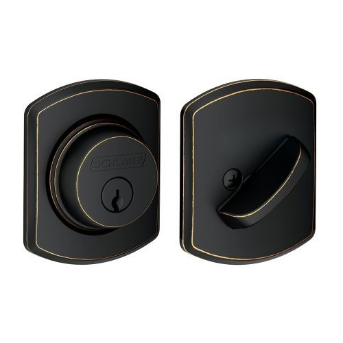 Single Cylinder Deadbolt with Greenwich Trim, Aged Bronze (B60 N GRW 716)
