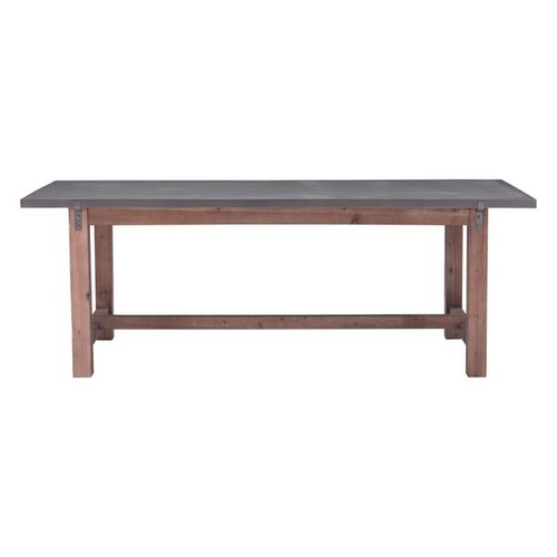 Zuo Greenpoint Distressed Grey Wood Dining Table