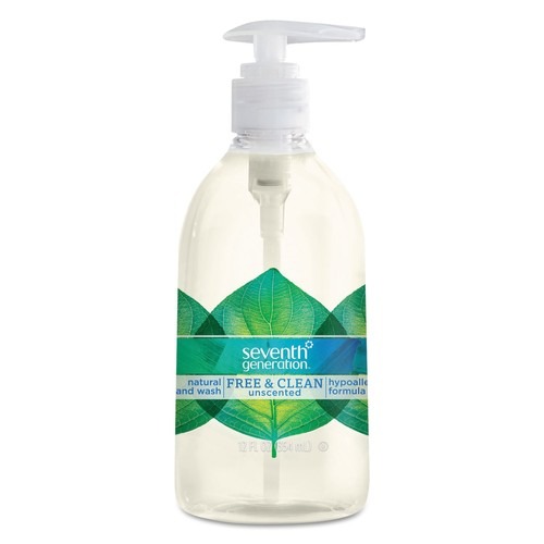 Seventh Generation Natural Hand Wash, Free & Clean, Unscented, 12 oz Pump Bottle | PJP Marketplace