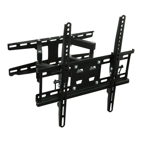 Mount-It! Articulating TV Wall Mount Corner Bracket, VESA 400 x 400 Compatible, Stable Dual Arm Full Motion, Swivel, Tilt Fits 32, 37, 40, 42, 47, 50 Inch TVs, 115 Lbs Capacity (MI-4461)