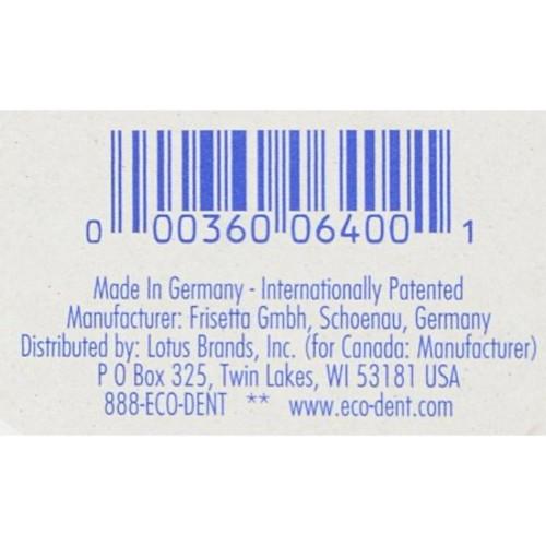 Eco-Dent B53924 Eco-dent Terradent Replaceable Head Toothbrushes Adult31 Medium -6x3 Pk