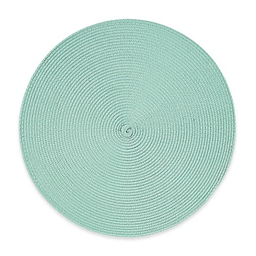 Indoor/Outdoor Round Placemats in Light Blue (Set of 6)