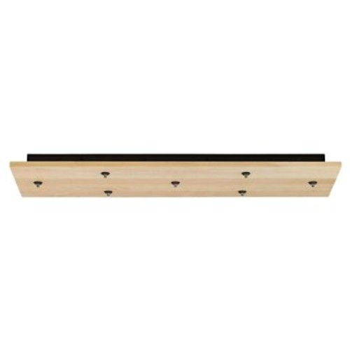 Rectangle Wood Multi-Light Canopy [Light Option : Halogen; Finish : Satin Nickel]